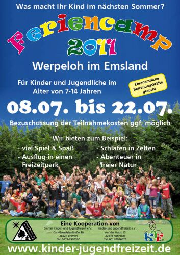 Feriencamp für 7-14jährige in den Sommerferien