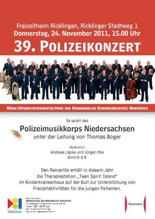 Wohltätigkeitskonzert mit dem Polizei-Musikkorps Niedersachsen