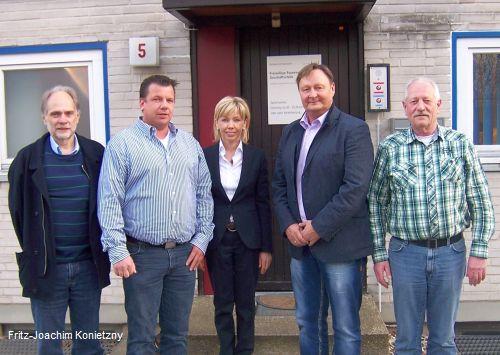 Doris Schröder-Köpf mit Michael Wilke, Reiner Richter, Fritz-Joachim Konietzny und Bernd Rödel
