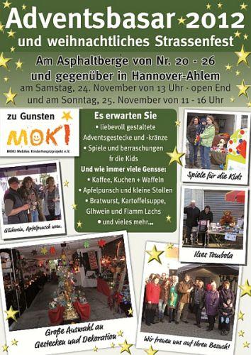 Adventsbasar mit weihnachtlichem Strassenfest in Ahlem