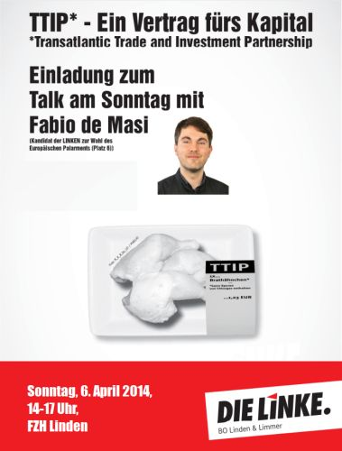 Sonntäglicher Talk mit Fabio de Masi: Ein Vertrag für das Kapital - TTIP