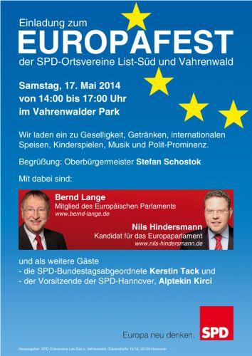 SPD Europafest im Vahrenwalder Park