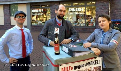 Serge Zanot, Denny von Roux und Jasmin Grobleben (v.l.)