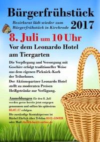 Bürgerfrühstück in Kirchrode am Samstag, 8. Juli 2017, ab 10 Uhr