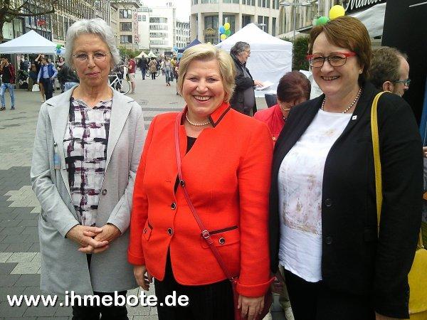 Rita Hagemann, Cornelia Rundt und Birgit Eckhardt (v.l.)