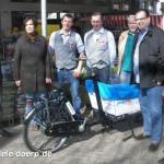 Das 24. Lastenrad Hannovers steht in Badenstedt