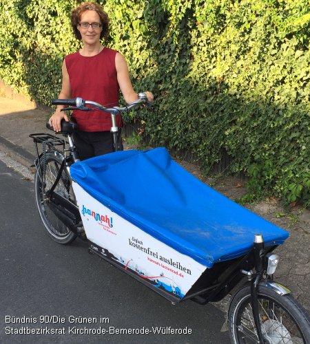 Leihlastenrad Hannah für zwei Monate zurück in Bemerode