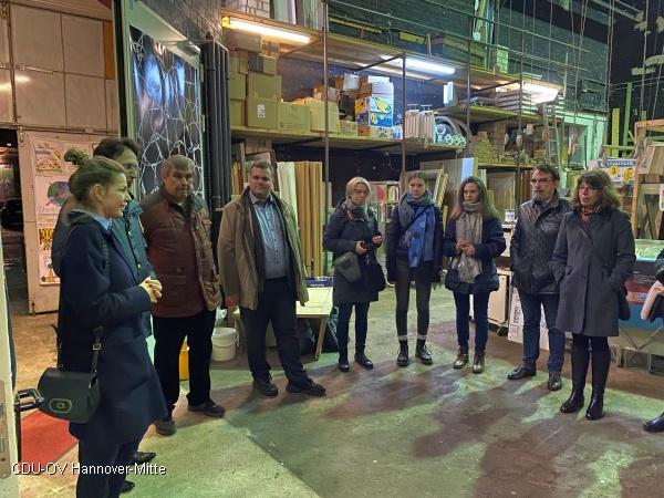 CDU besucht Upcycling-Börse im UJZ Glocksee